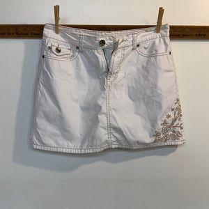 Faded Glory white denim skirt size 4